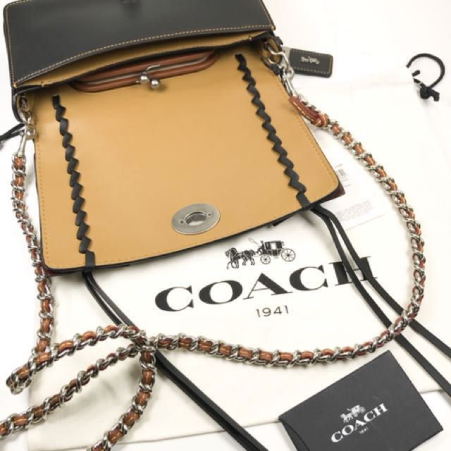 Coach 1941 Snake leather Dinky whipstitch snake NEW