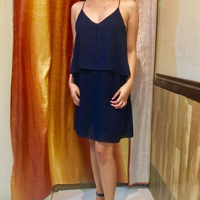 cobalt blue mango dress