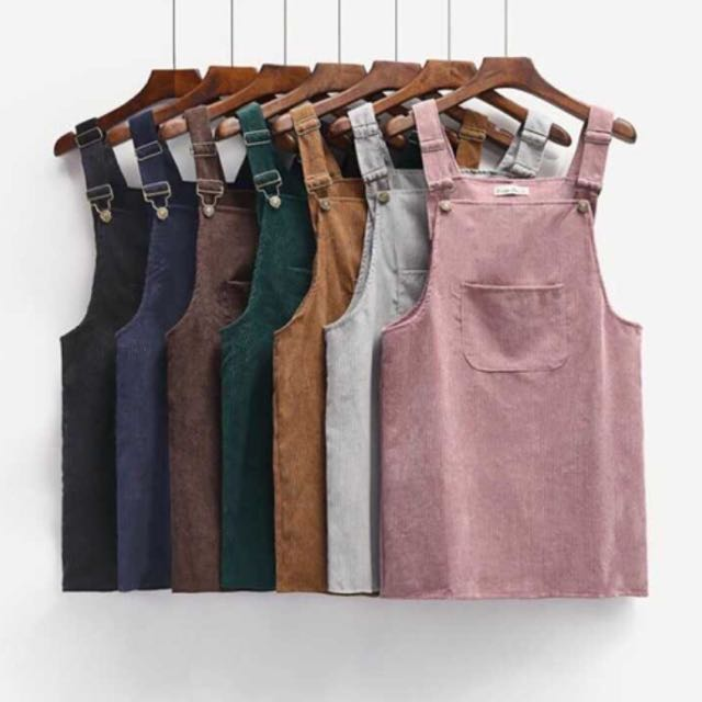 """Connie"" corduroy pinafore - 7 colours"