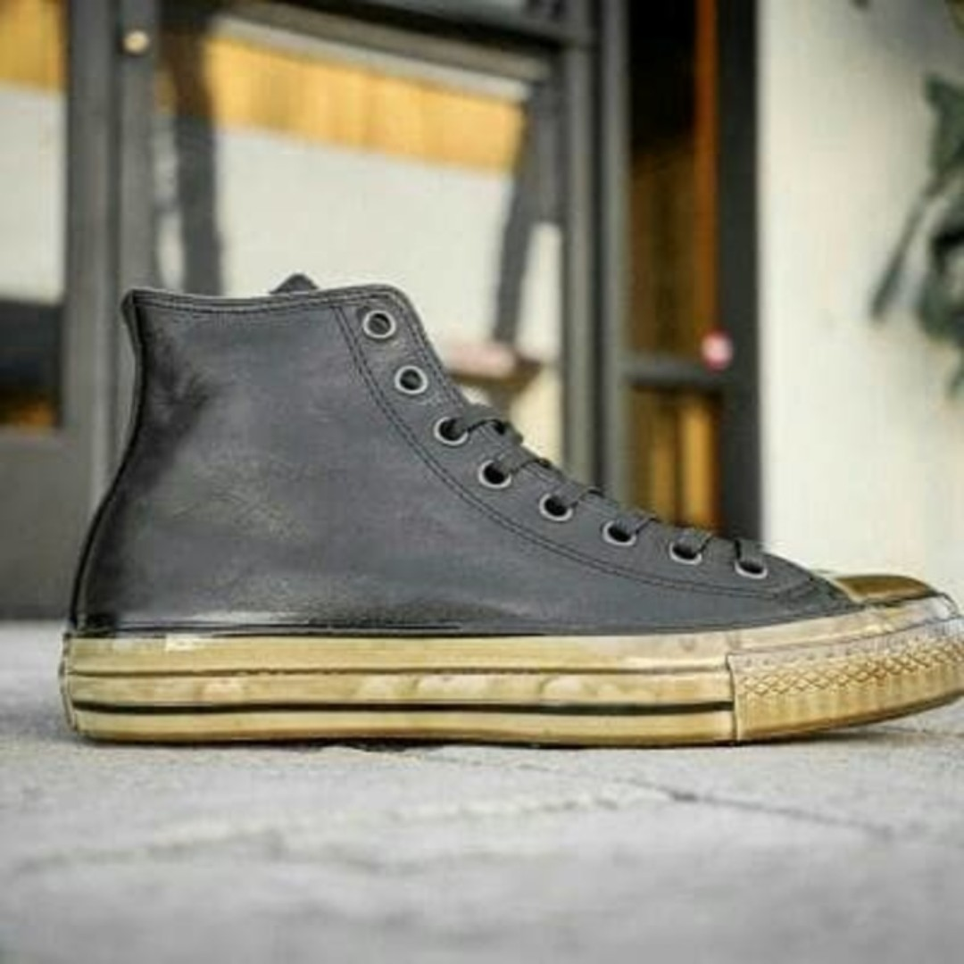 5277bdb20fb0 ... inexpensive converse x john varvatos ct hi black turtle dipped original  fesyen pria sepatu sneakers di