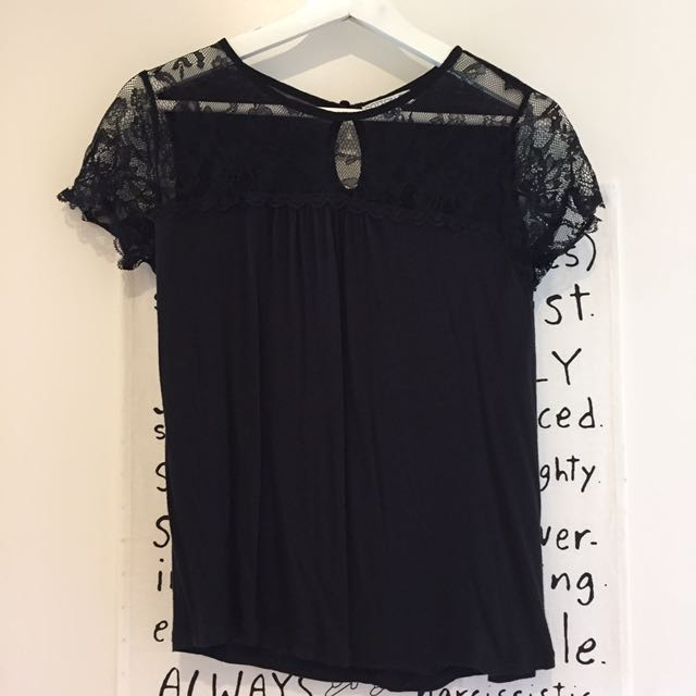 Cotton On black lace top
