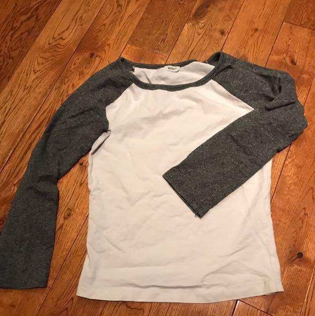 Cropped baseball shirt