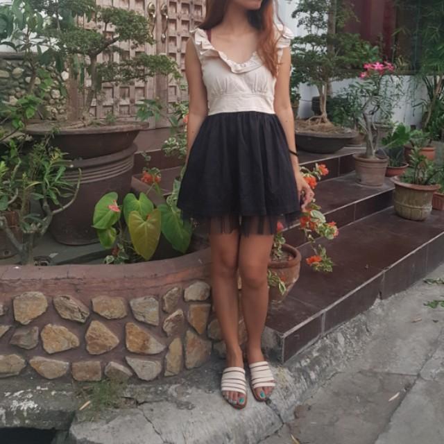 Cute Brown and Black Dress