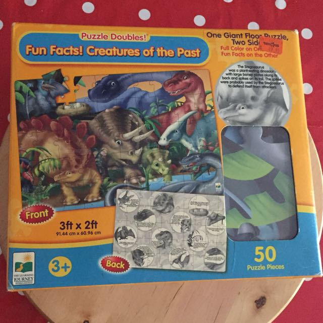 Dinosaurs giant 🦕🦖 puzzle complete