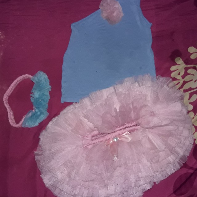 Dress tutu set anak usia 1-3th