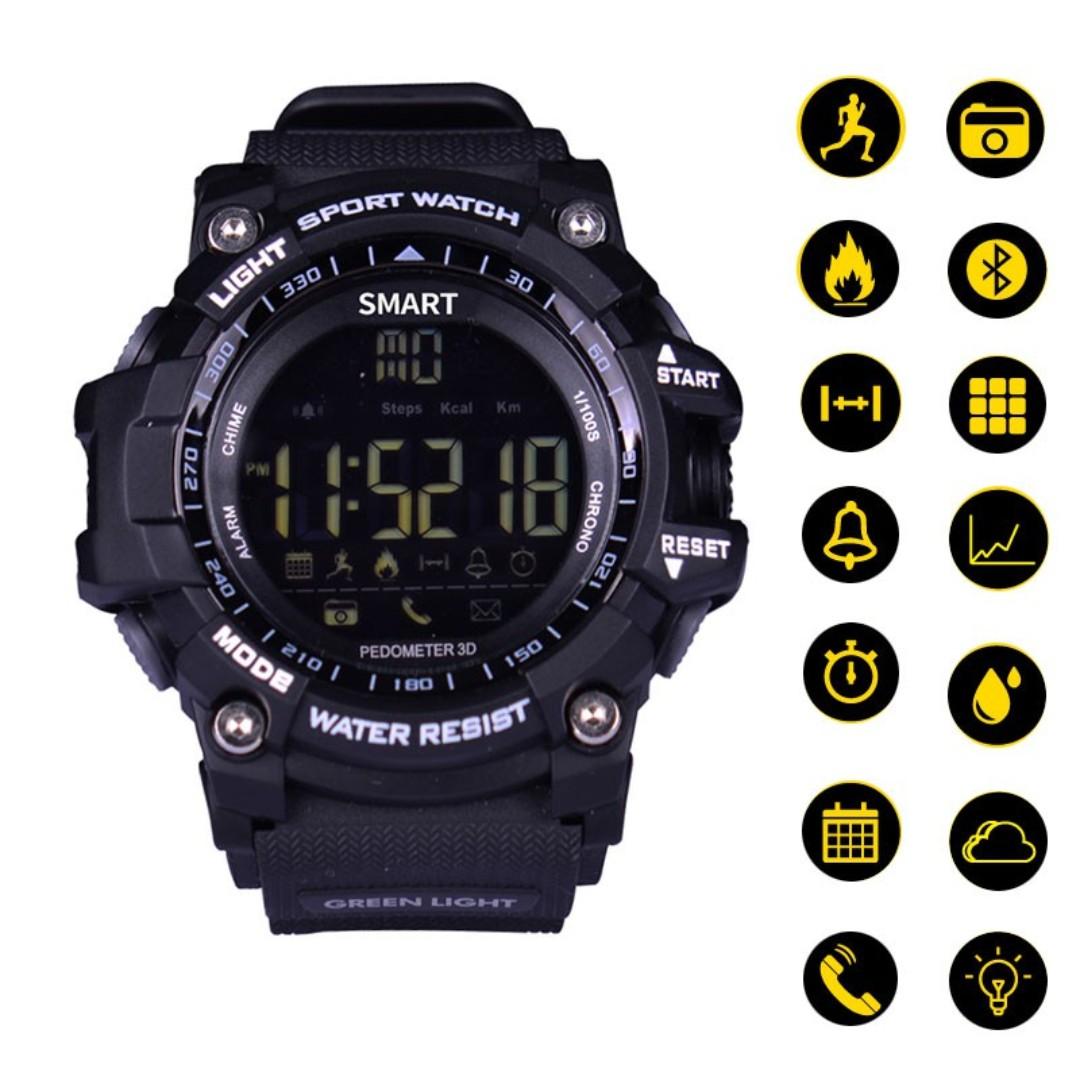 EX16 Bluetooth Smartwatch Pedometer Remote Camera Android iOS like SKMEI  GSHOCK