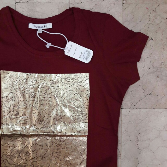 F21 Maroon Ladies Tees