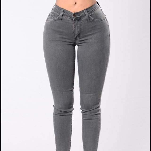 Fashion Nova Grey Stone Jeans