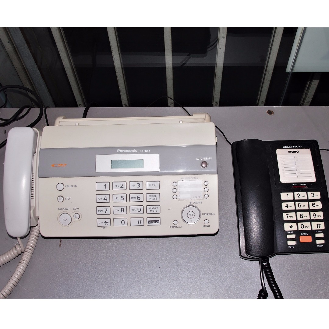 fax machine panasonic and free table phone electronics others on