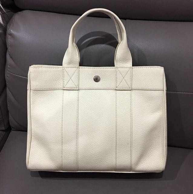 France white leather tote bag
