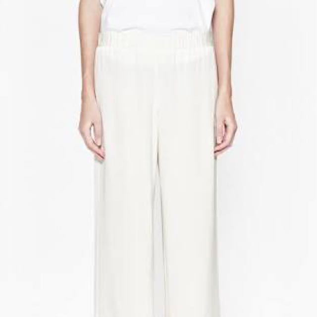 FRENCH CONNECTION White Wide Leg Pants