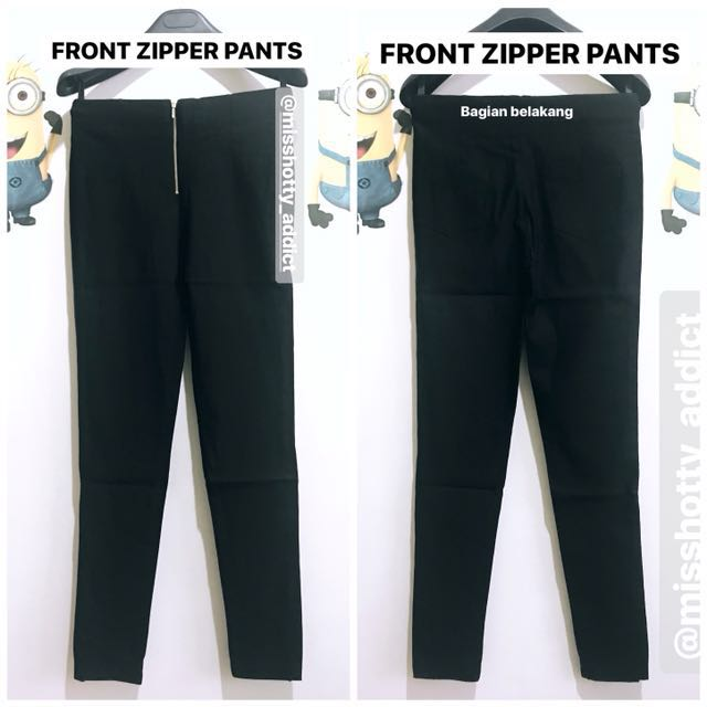 FRONT ZIPPER PANTS