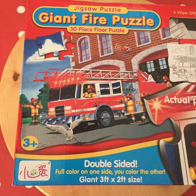 Gigant Floor puzzle fireman fire truck