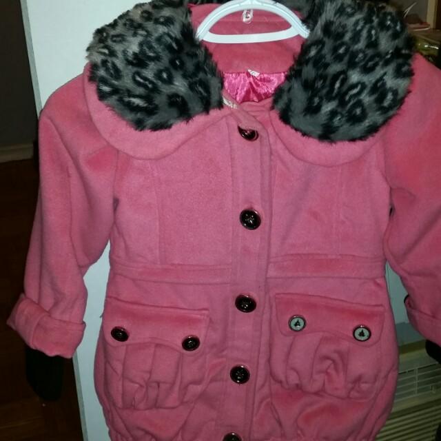 Girl's Pink Coat
