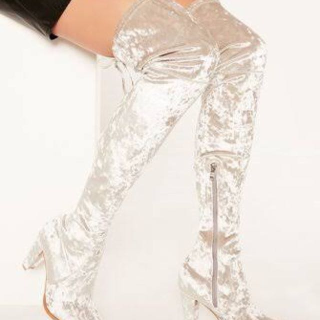 Glassons velvet boots