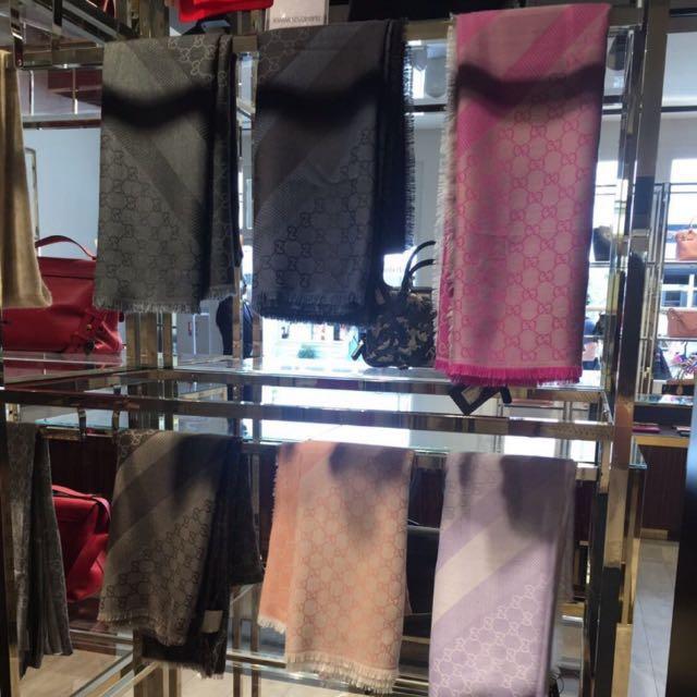 Gucci二手羊毛140*140大圍巾