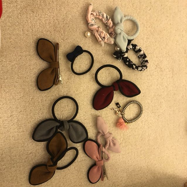 Hair ties and Hair clips! Each one for $3 only! Buy 3 get 1 free!