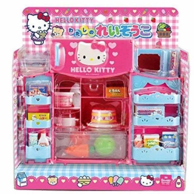 三麗鷗HELLO KITTY凱蒂貓冰箱微波爐玩具 扮家家酒
