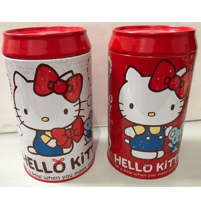三麗鷗HELLO KITTY凱蒂貓雙胞胎可樂罐存錢筒 撲滿 任選兩款
