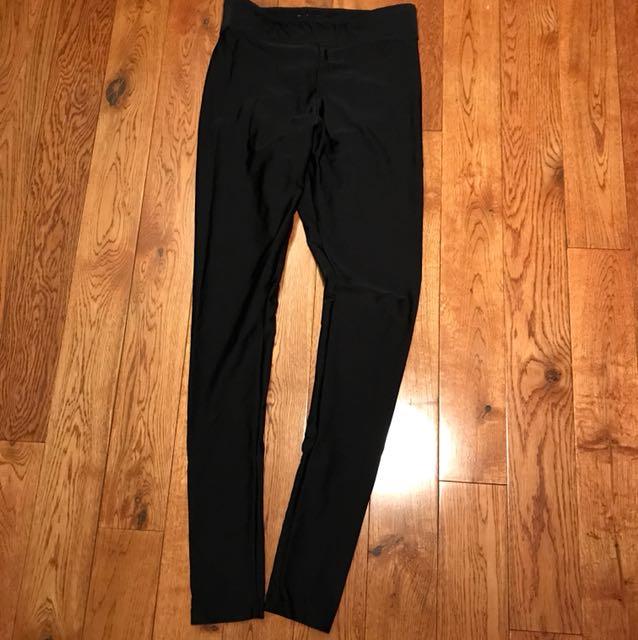 High waisted nylon leggings