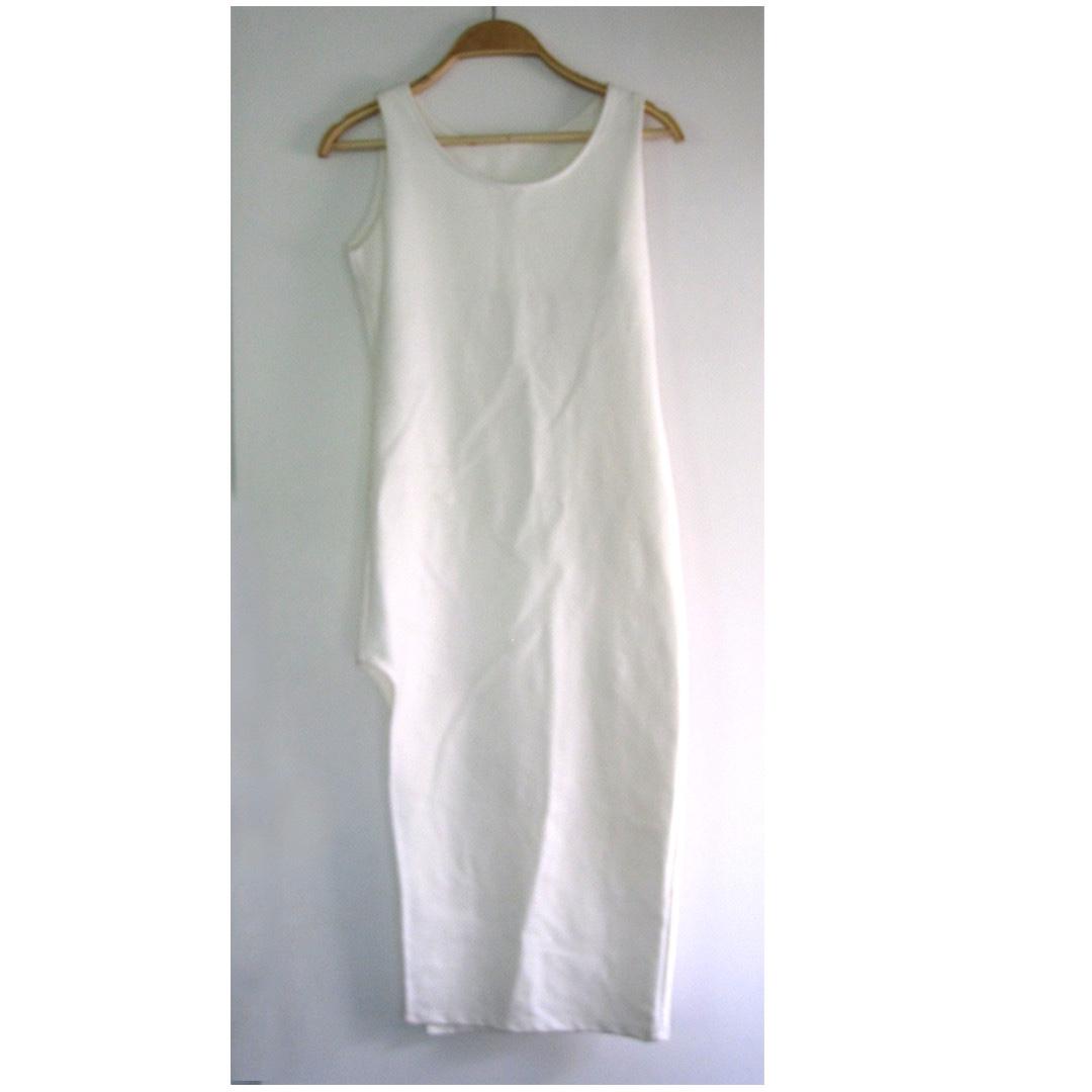 HK White Sleeveless Long Top