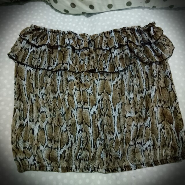 Imported Animal print Tube Blouse