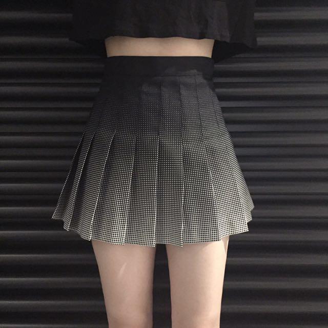 7a791de7e5 INSTOCK] Korean Ulzzang Gradient High Waist Pleated Tennis Skirt ...