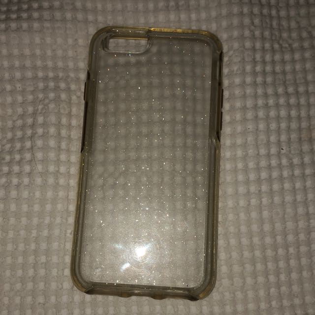iPhone 6 clear sparkly case
