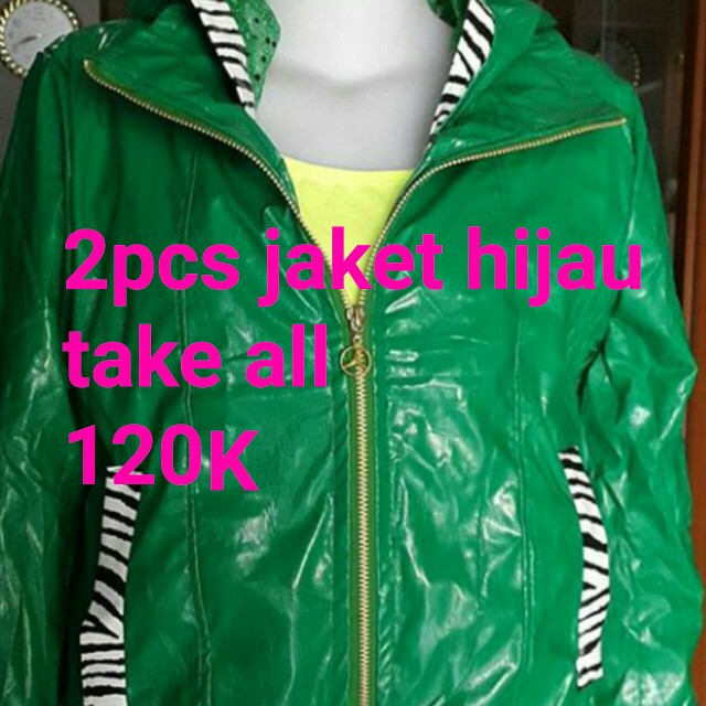 Jaket hijau take all 2pca 120k