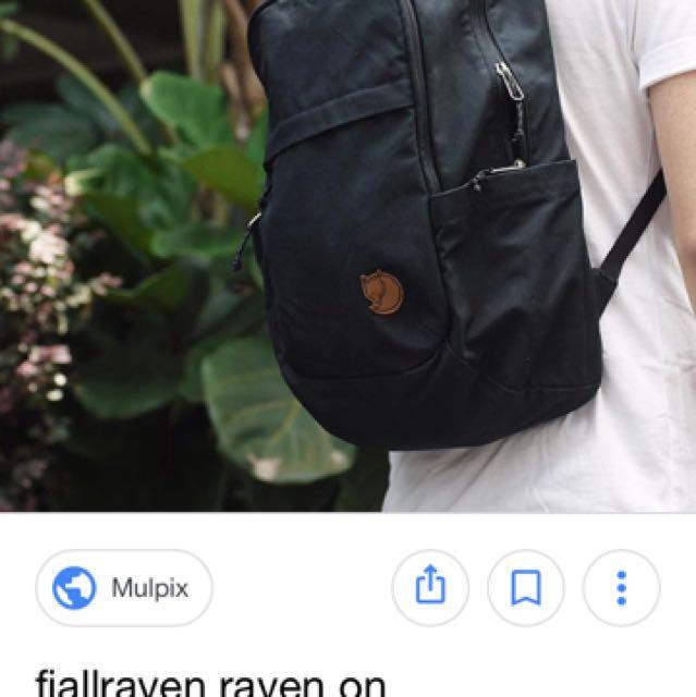 Kanken 20L 黑色電腦後背包