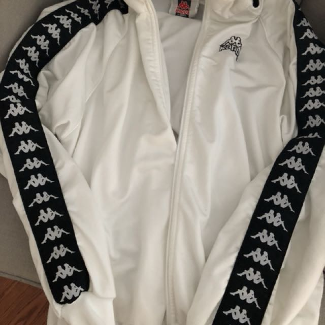 Kappa white zipper jacket/sweater
