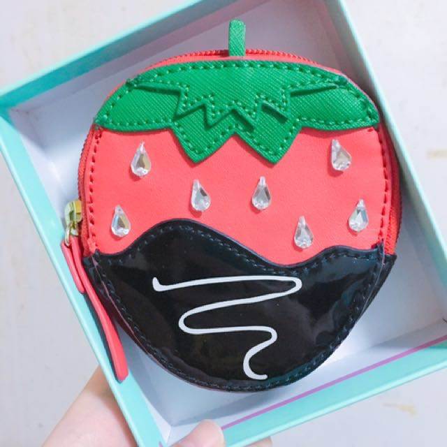 全新💡Kate spade 草莓零錢包
