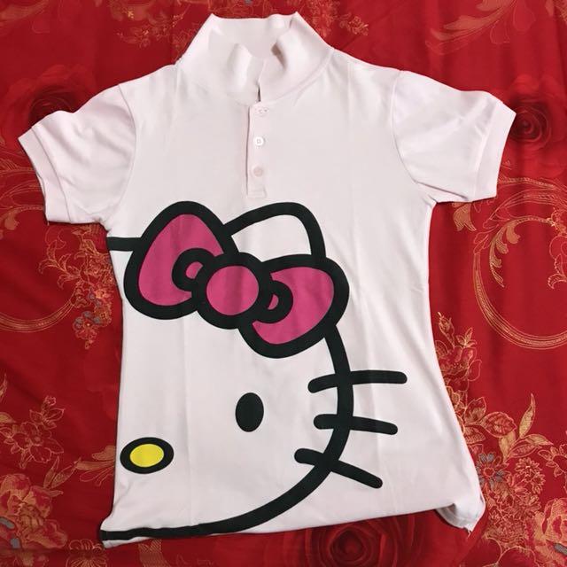 Kemeja Polo Hello Kitty