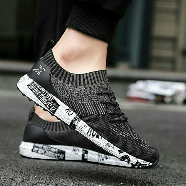 Korean fashion knitted shoes, Men's Fashion, Footwear on ...