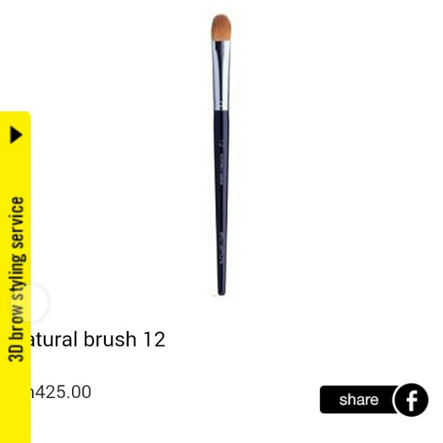 LESS 50% ON ALL 100% AUTHENTIC SHU UEMURA BRUSHES (LIMITED TIME ONLY)  SHU UEMURA NATURAL BRUSH NO. 12 MADE IN JAPAN  100% AUTHENTIC & BRAND NEW AS ALWAYS  STORE PRICE : RM425  MY PRICE : RM212.50  FUNCTIONS : PLS REFER PICTURE  FREE BRUSH GUARD