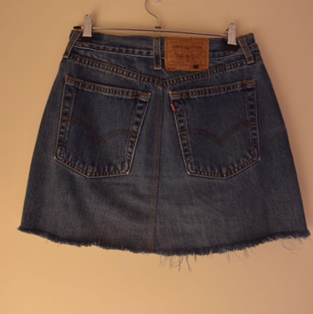 Levi's Blue Mini Denim Skirt