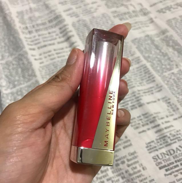 Lipstik maybelline red 3 warna seperti baru
