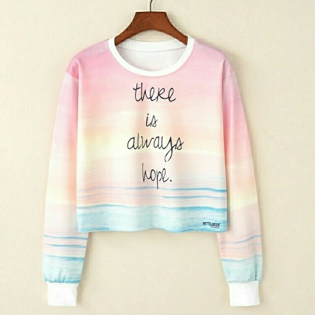 Lj#VT-Always Crop Sweater 55.000 Bahan babiterry full print fit to L