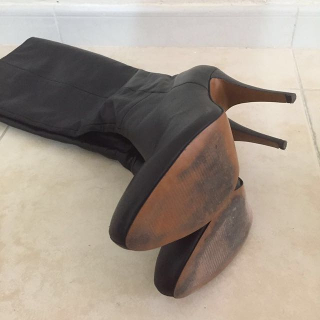 Long Black Leather Boot From iT