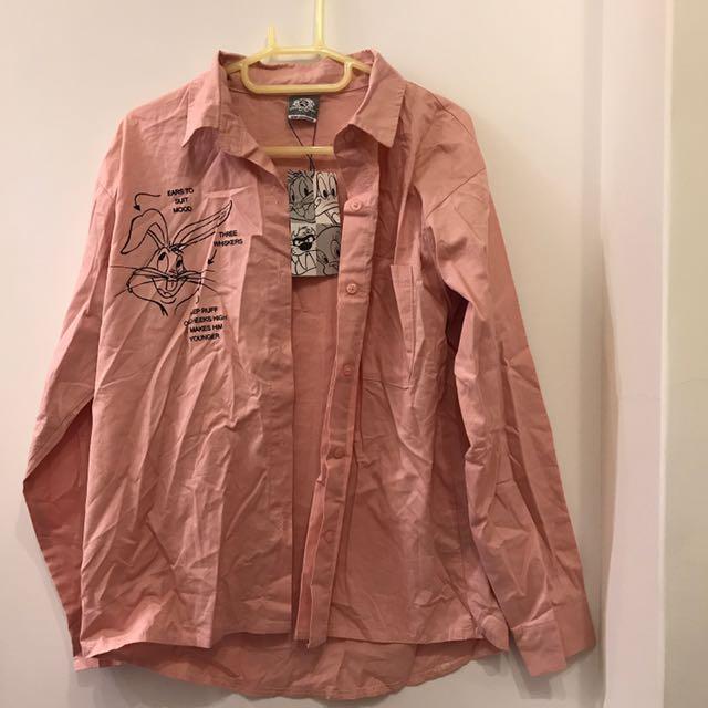 Looney tunes粉色襯衫