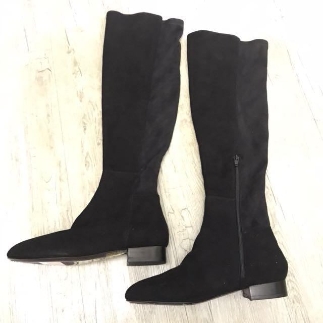 【M17163】minelli 義大利製低跟及膝靴