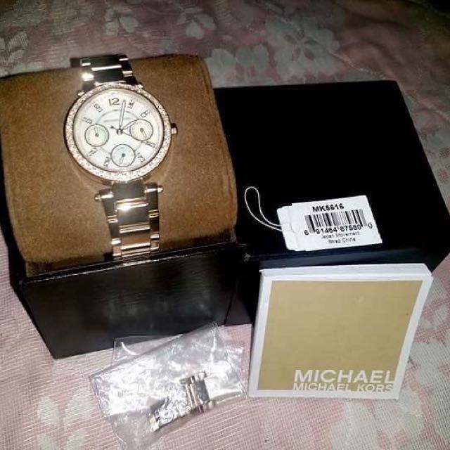 Michael Kors Parker Multi-Function Rose Gold-tone Ladies Watch