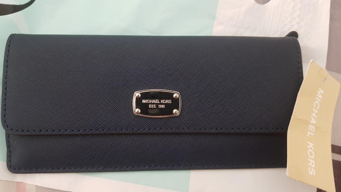 Michael Kors slim wallet - Navy