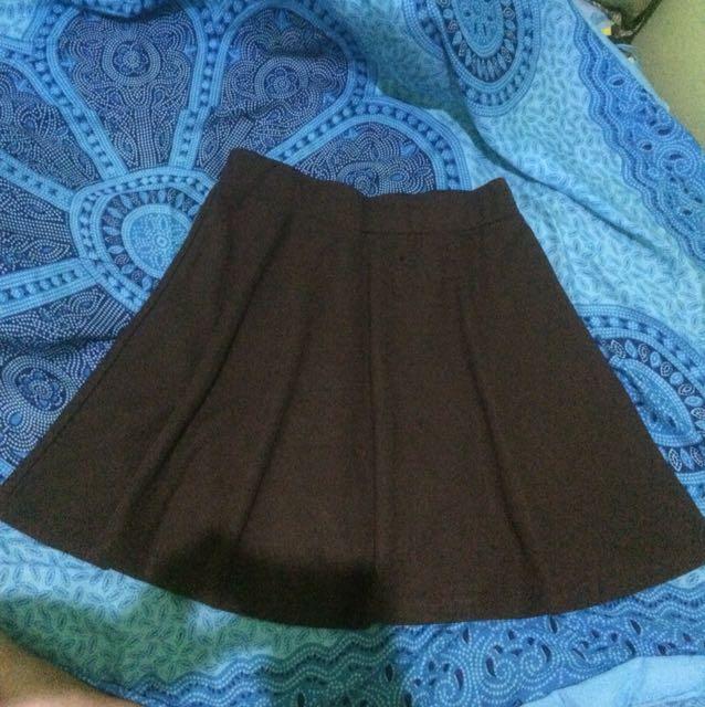Midi skirt coklat uk S