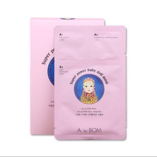 (#MidJan55) A by BOM Super Power Baby Doll Mask 10 Pieces *NEGO TILL LET GO*