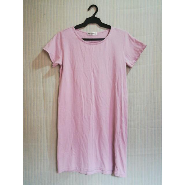 Millennial pink tshirt dress