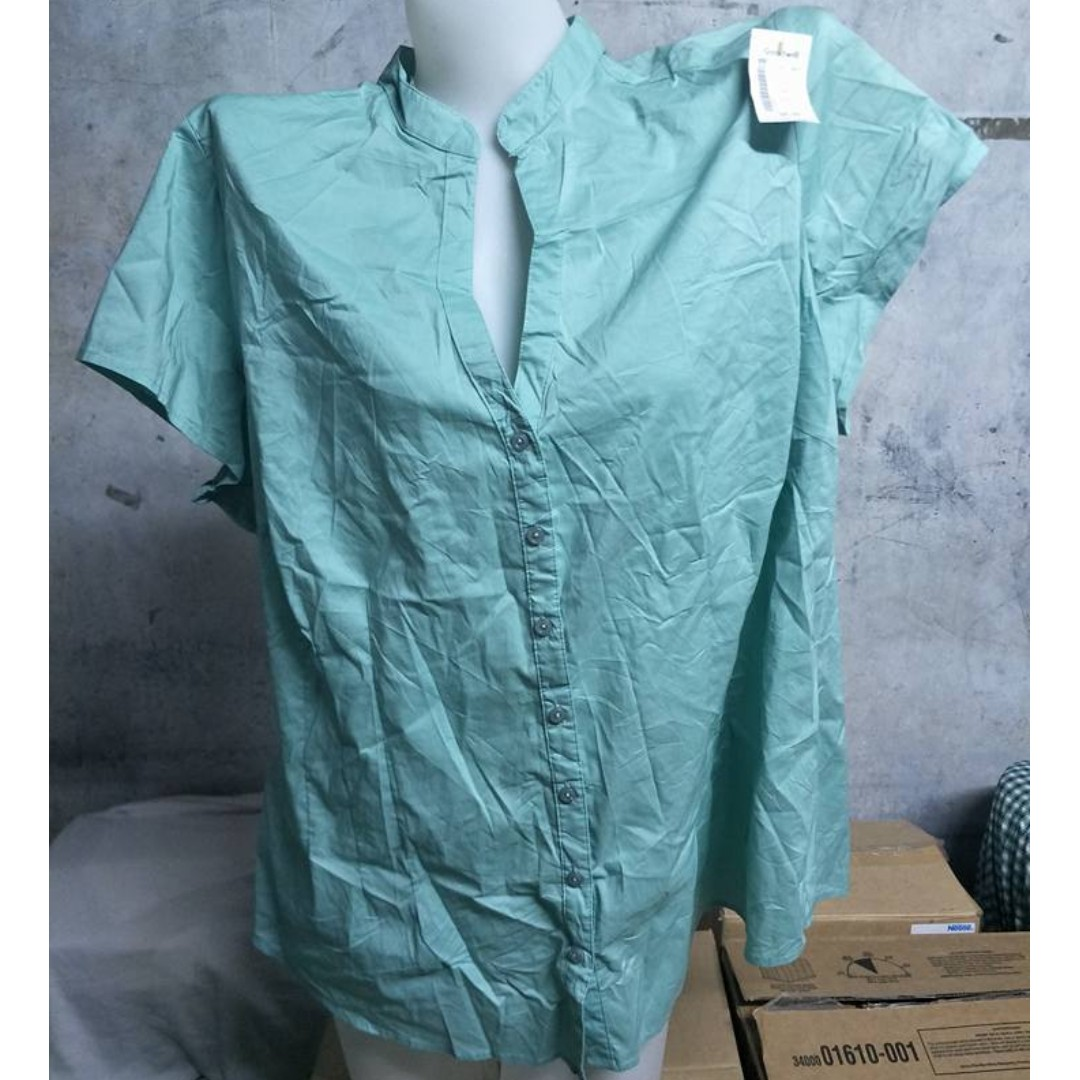 Mint Green Polo Blouse