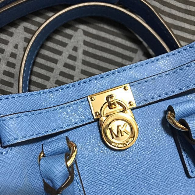MK 經典logo mini  Hamilton bag 天空藍