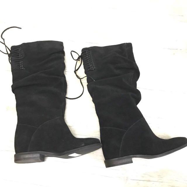 【N17157】Nine West 麂皮長靴