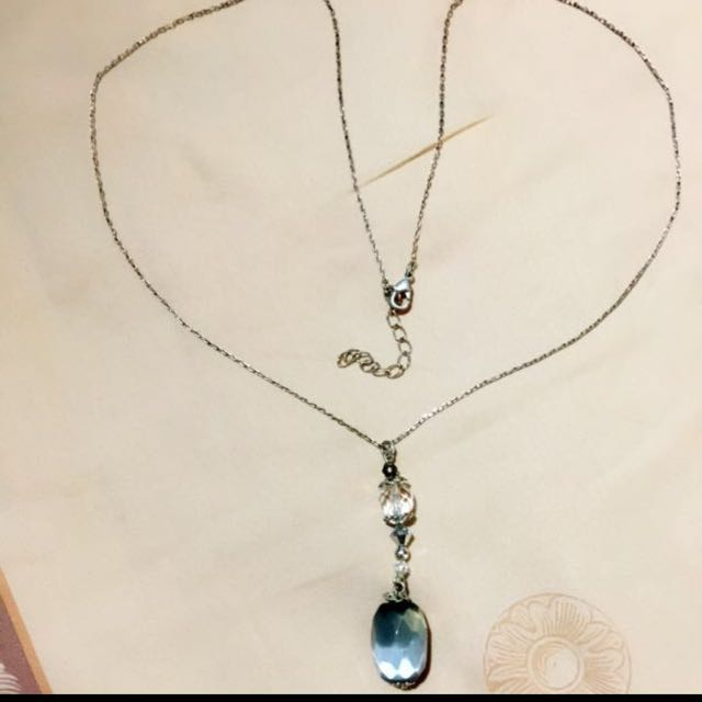 necklace with crystal pendant